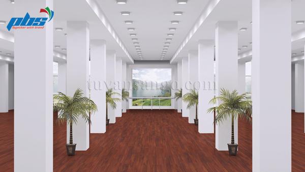 Sàn gỗ Thụy Sĩ Kronoswiss D2281 lắp tại khu văn phòng