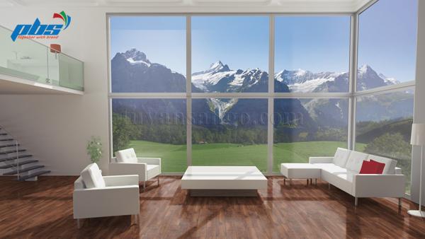 Sàn gỗ Thụy Sĩ Kronoswiss D2300 lắp tại phòng khách