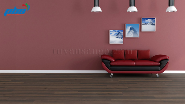 Sàn gỗ Thụy Sĩ Kronoswiss D2439 tại phòng khách