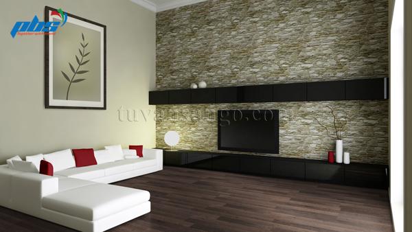 Sàn gỗ Thụy Sĩ Kronoswiss D2565 lắp ở phòng khách