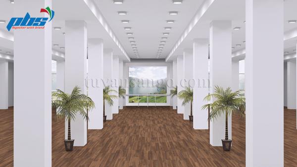 Sàn gỗ Thụy Sĩ Kronoswiss D4200 lắp tại văn phòng