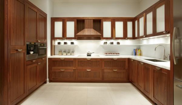 Tủ bếp gỗ óc chó - walnut