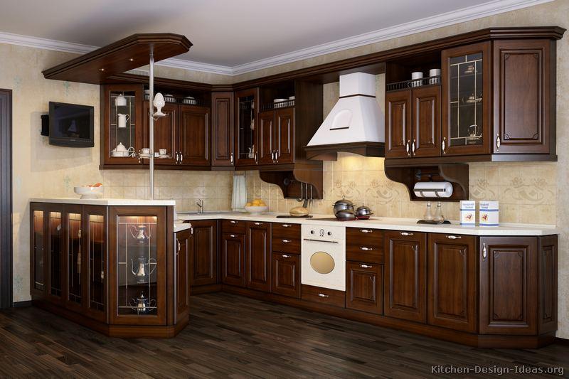Tủ bếp gỗ óc chó