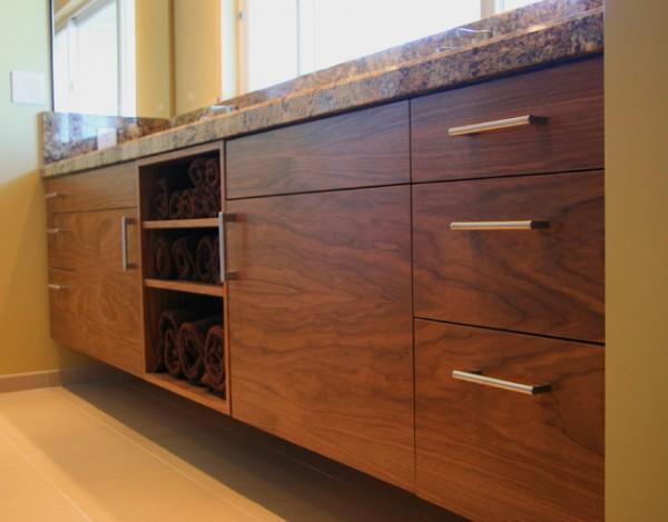 Tủ bếp gỗ walnut đẹp